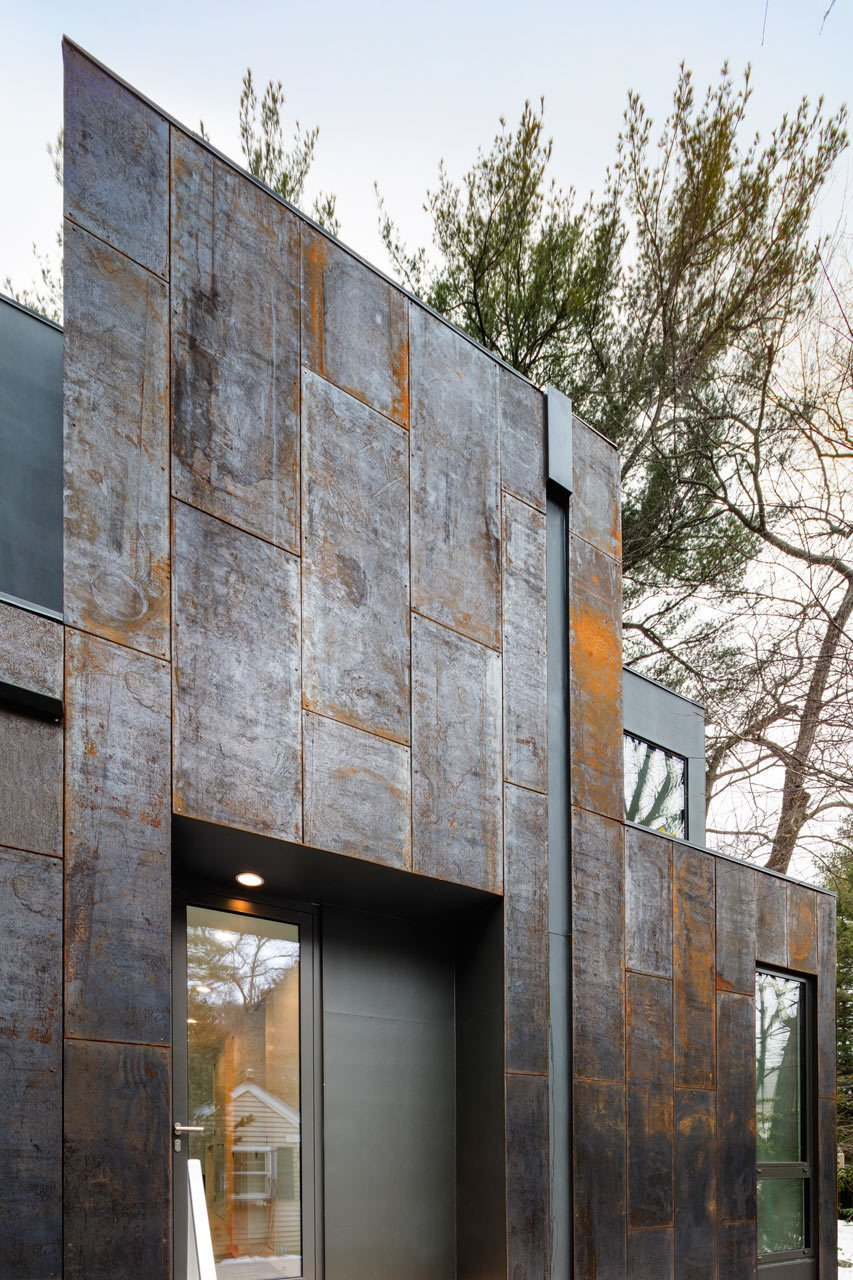 Photo 4 of 14 in Weather Steel Home By Merge Architects
