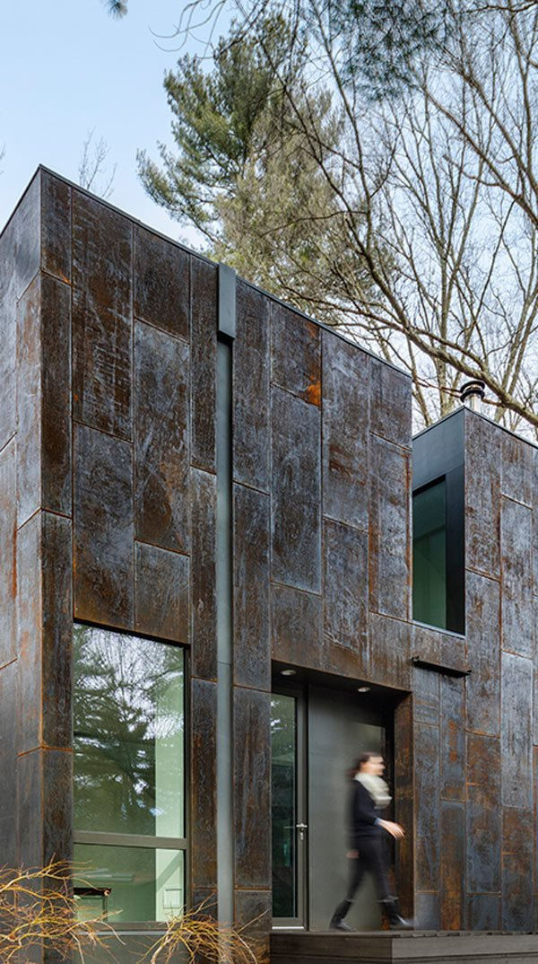 Photo 5 of 14 in Weather Steel Home By Merge Architects