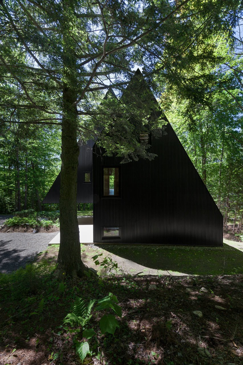 Photo 2 of 23 in FAHouse: A Double Triangular House in the Forest