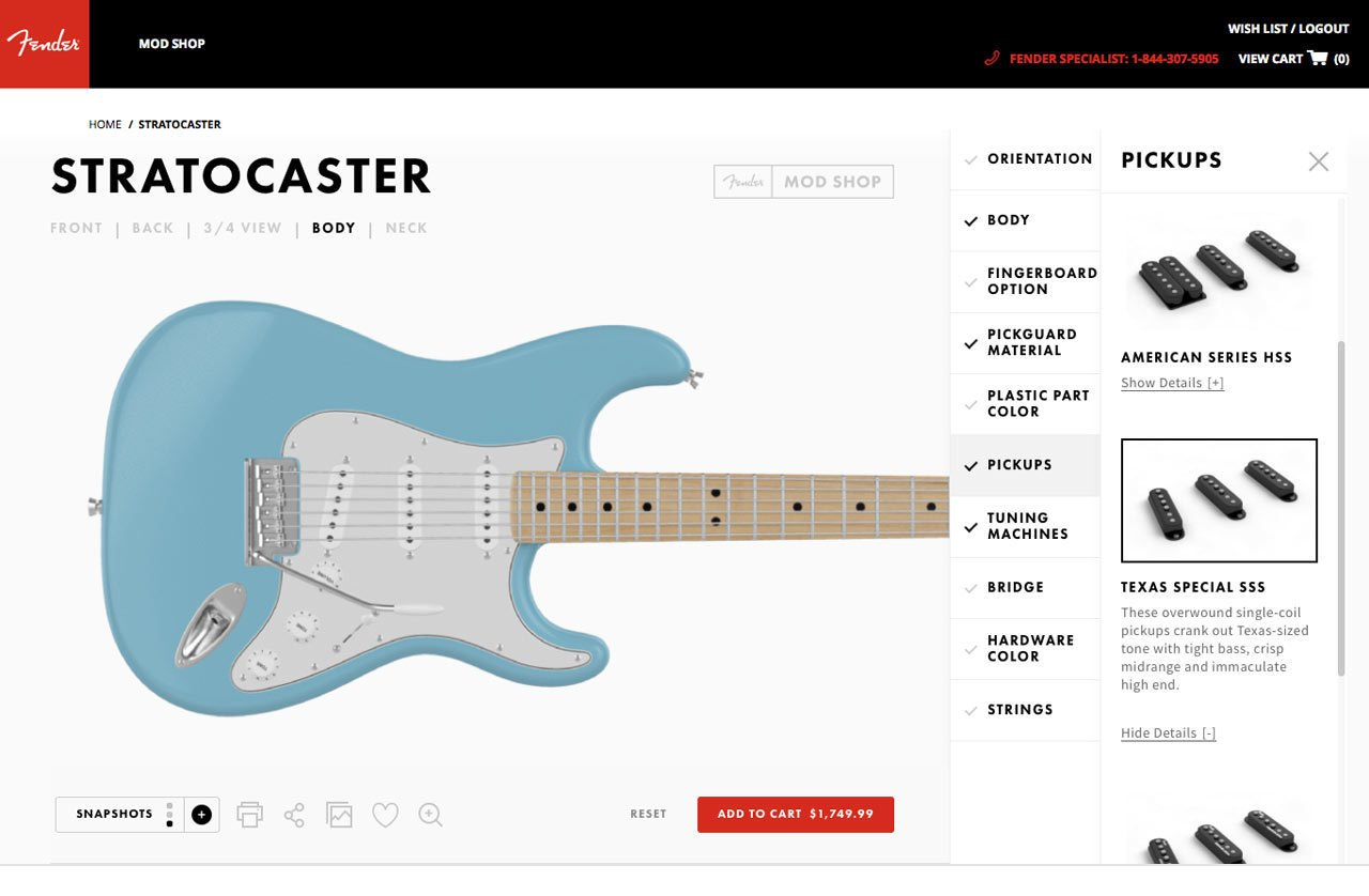 Photo 6 of 19 in Fender's Mod Shop Lets You Build Your Own Modern Classic