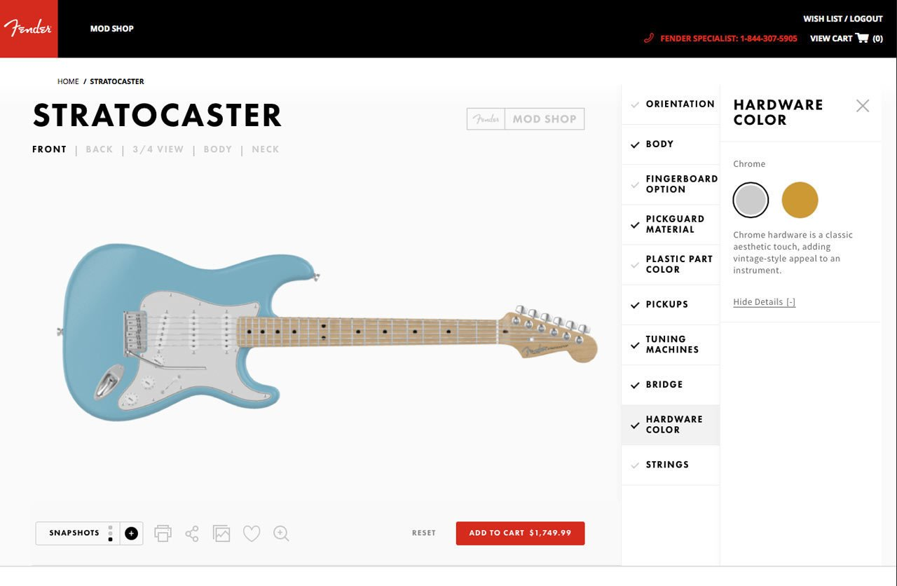 Photo 8 of 19 in Fender's Mod Shop Lets You Build Your Own Modern Classic