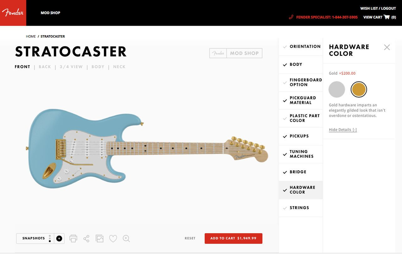 Photo 7 of 19 in Fender's Mod Shop Lets You Build Your Own Modern Classic