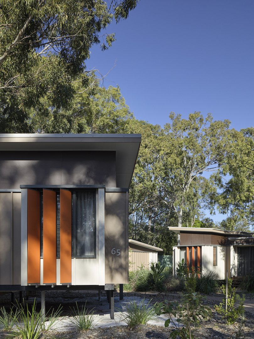 Exterior, Flat RoofLine, and Cabin Building Type  Photo 5 of 10 in An Eco-Friendly Resort in Idyllic Byron Bay, Australia