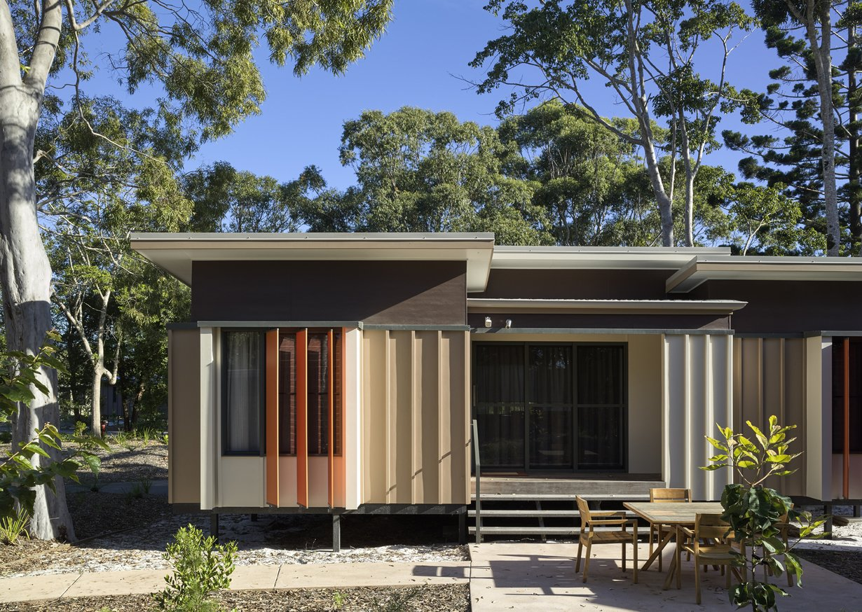 Exterior, Flat RoofLine, and Cabin Building Type  Photo 6 of 10 in An Eco-Friendly Resort in Idyllic Byron Bay, Australia