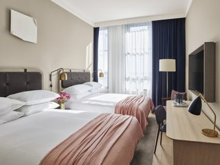 The guest rooms, which look and feel more like an artist's home than a traditional hotel, all have custom designed pieces by SPACE Copenhagen, from light fixtures to accent furniture.
