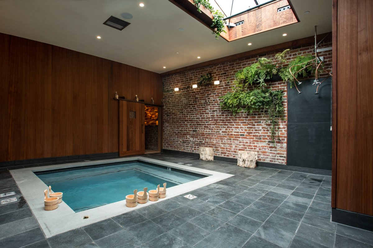 Photo 2 of 14 in Former Auto Body Shop Transformed Into Zen Bathhouse