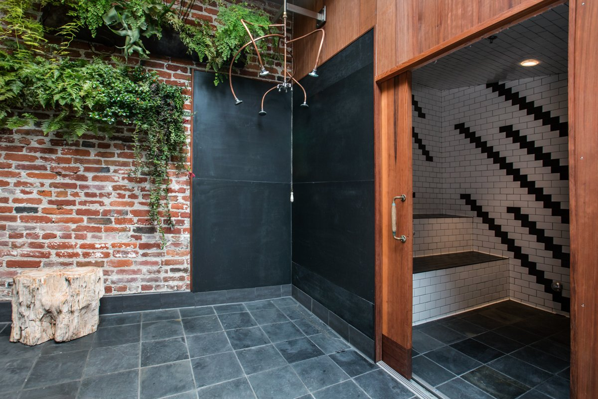 Photo 6 of 14 in Former Auto Body Shop Transformed Into Zen Bathhouse
