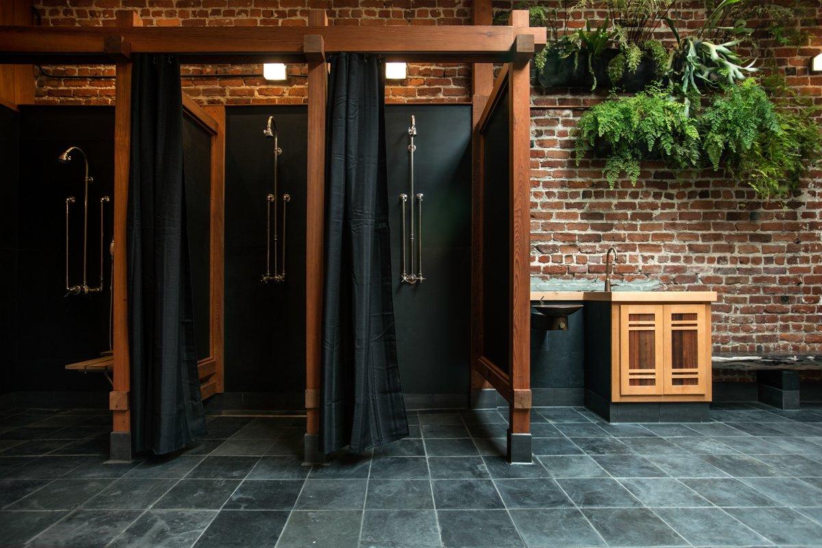 Photo 8 of 14 in Former Auto Body Shop Transformed Into Zen Bathhouse