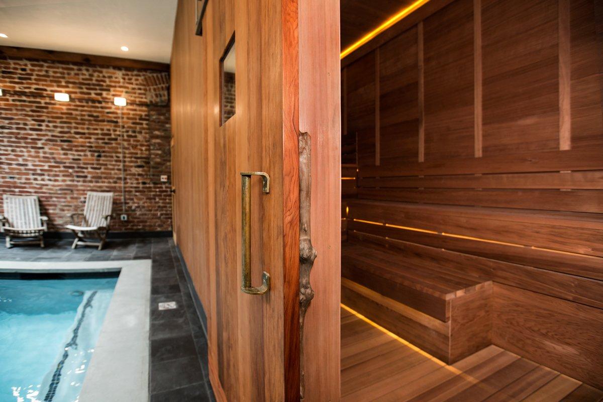 Photo 10 of 14 in Former Auto Body Shop Transformed Into Zen Bathhouse