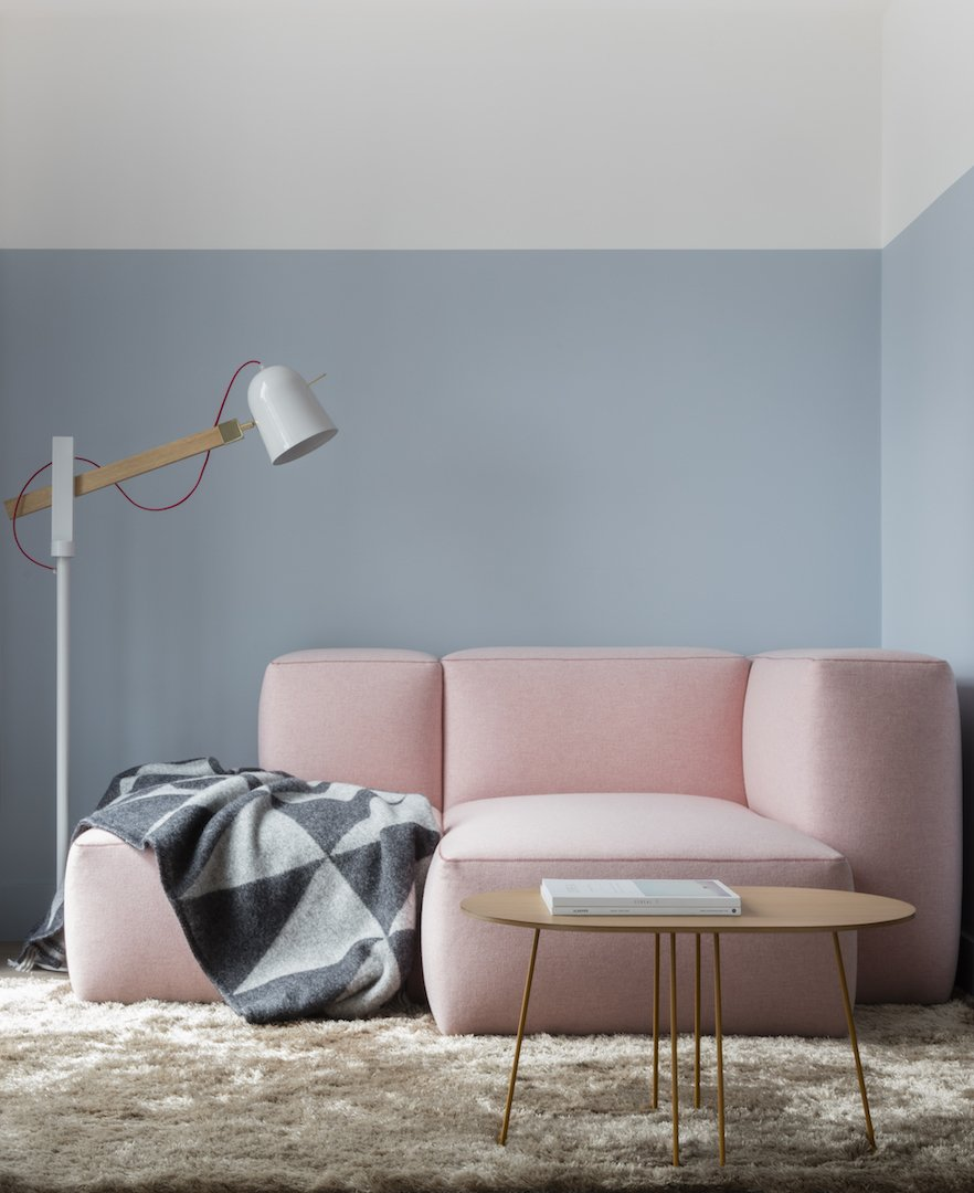 Living Room, Coffee Tables, Sofa, Rug Floor, and Lamps  Leman Locke from Sleep, Stay, Work, and Play at the Leman Locke