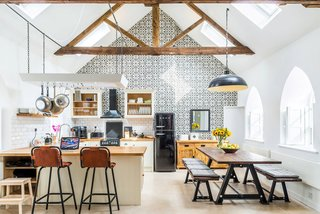 Chapel on the Hill is a project that turned a Methodist Chapel near Middleton-In-Teasdale, England into a boutique property that anyone can rent out on Airbnb. Evolution Design kept its dramatic 19th century exterior while turning the inside into a luxurious cottage that can host seven people.