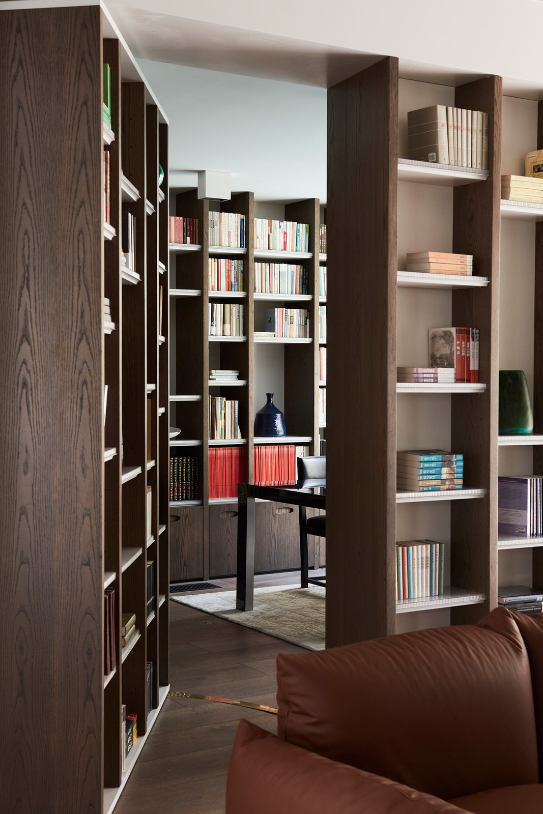 Office, Study Room Type, Bookcase, and Shelves  The Books House by Luigi Rosselli Architects