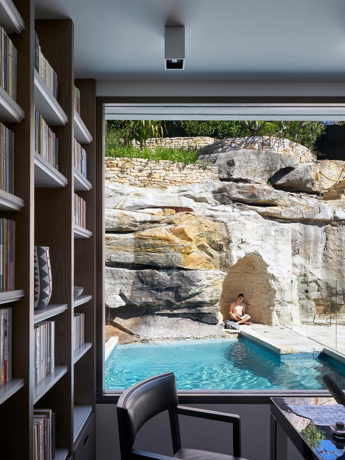 Outdoor and Small Pools, Tubs, Shower  The Books House by Luigi Rosselli Architects