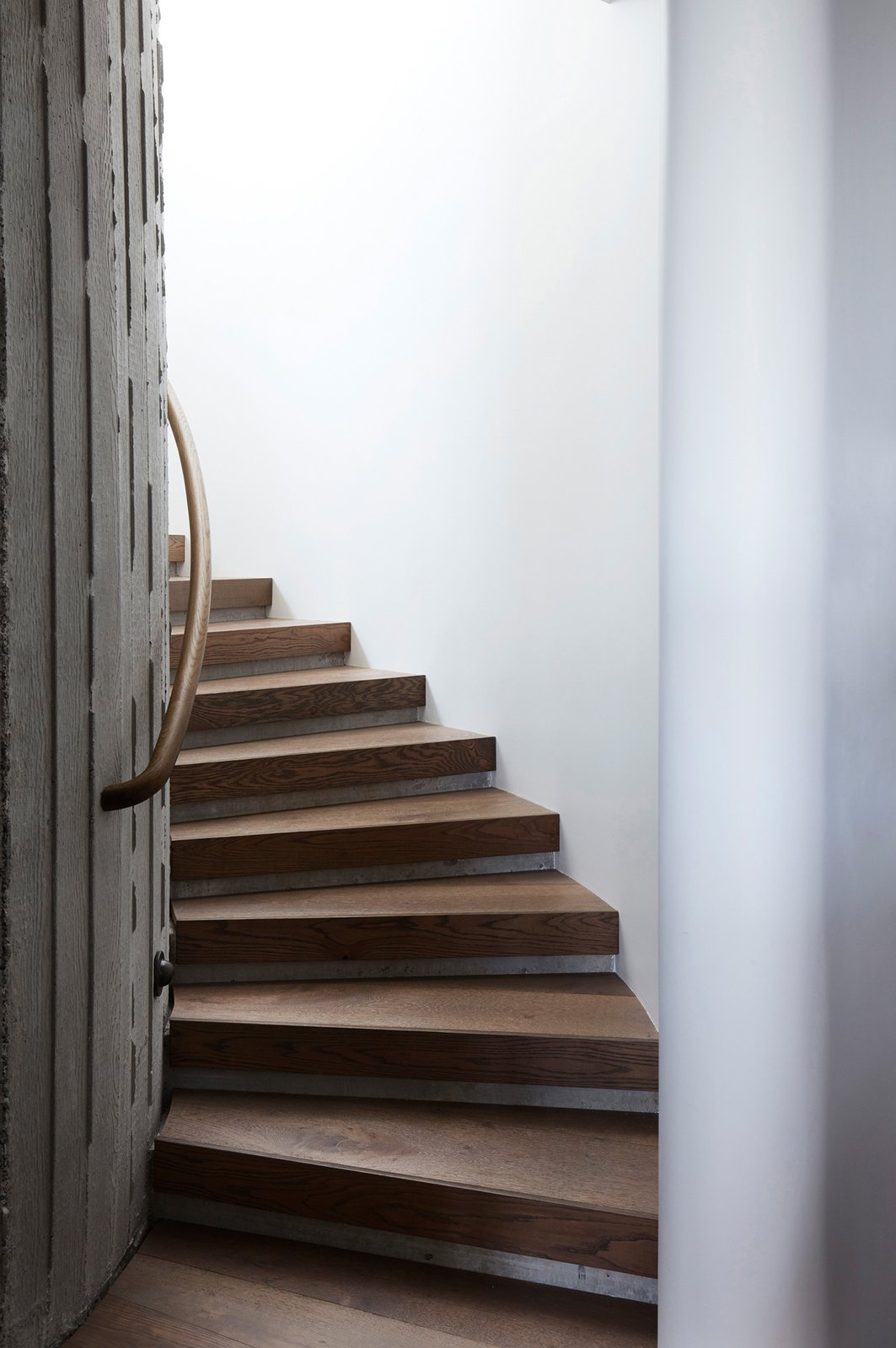 Staircase and Wood Tread  The Books House by Luigi Rosselli Architects