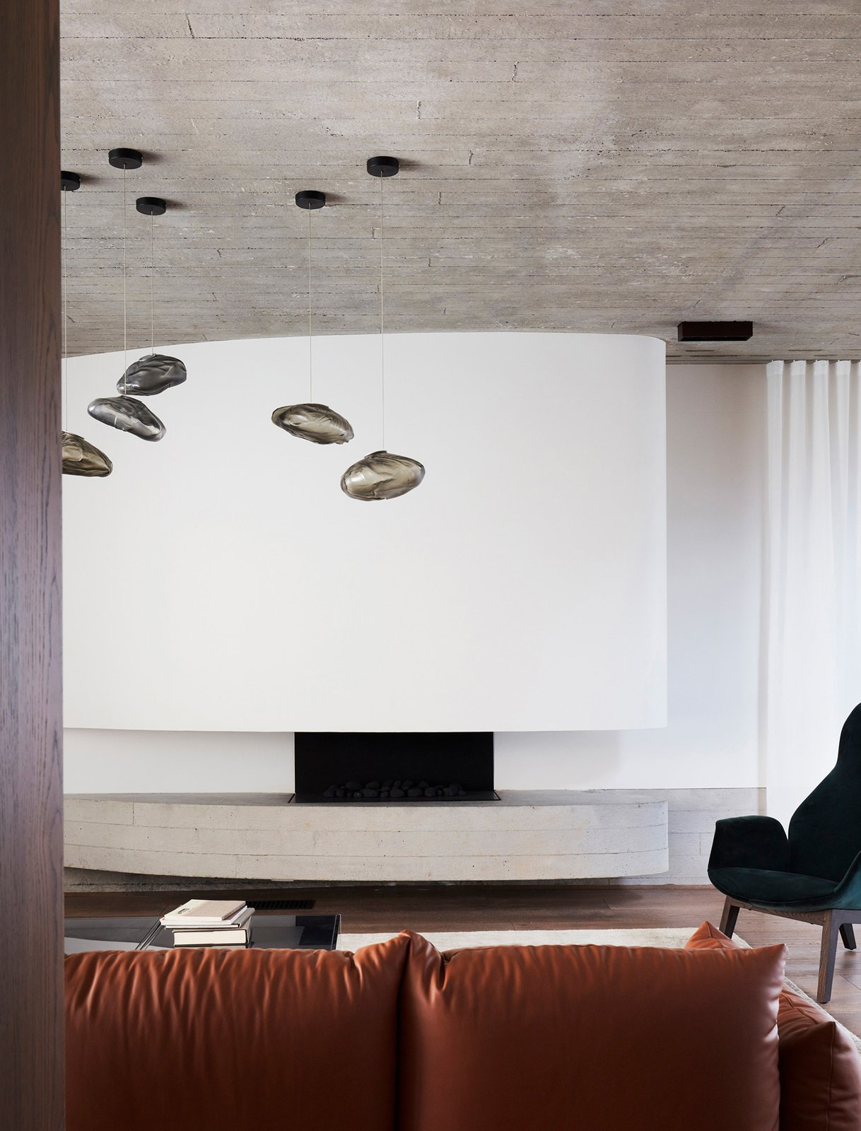 Living Room  The Books House by Luigi Rosselli Architects
