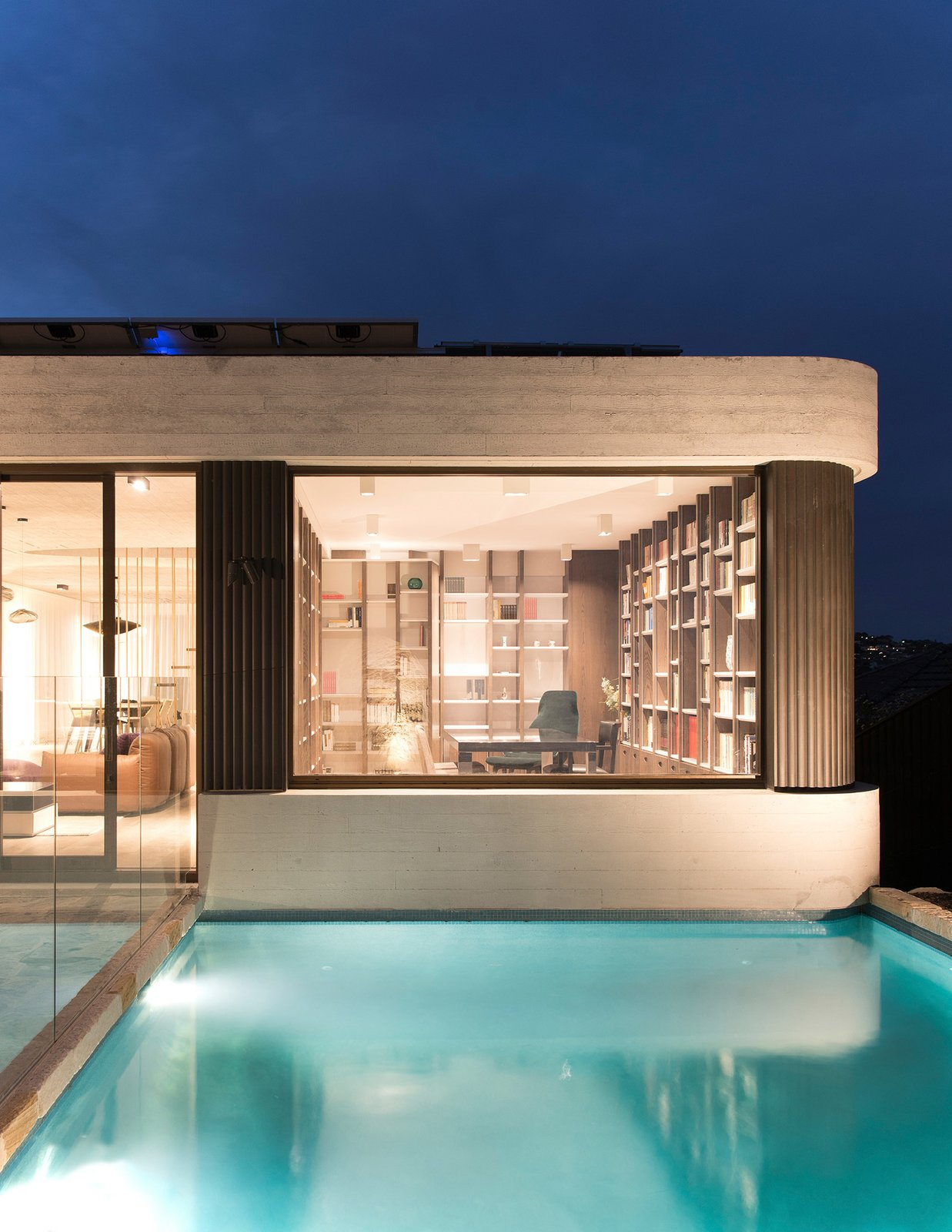 Exterior, House Building Type, and Flat RoofLine  The Books House by Luigi Rosselli Architects