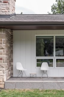 Midcentury homes often incorporated shading devices like front and back porches.