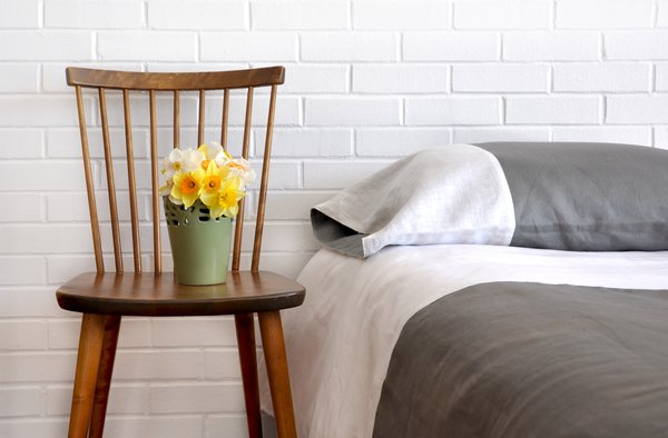 Colorblock Linen Bedding