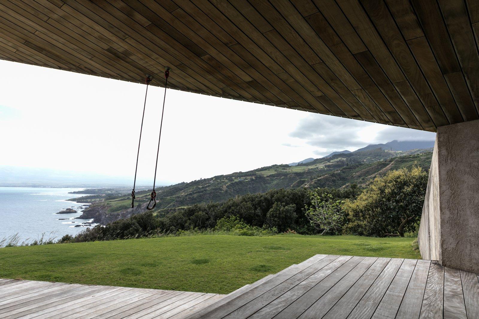 Hallway and Medium Hardwood Floor  The Clifftop House by Modern on Maui - Liam Ball