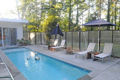 Outdoor, Front Yard, Hardscapes, Swimming Pools, Tubs, Shower, and Concrete Patio, Porch, Deck  Custer by TaC studios