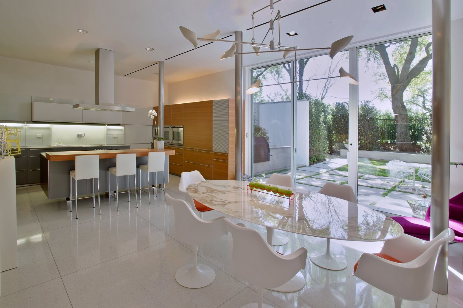 Kitchen, Refrigerator, Wall Oven, Cooktops, Range Hood, Microwave, Dishwasher, Laminate Cabinet, Ceiling Lighting, and Recessed Lighting  Oak Court by buchanan architecture