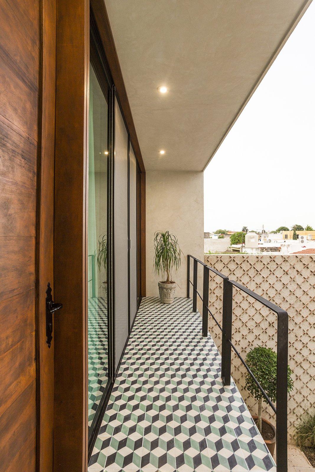 Outdoor, Tile Patio, Porch, Deck, and Metal Fences, Wall  Lemon Tree House by Taller Estilo Arquitectura S de R.L de C.V