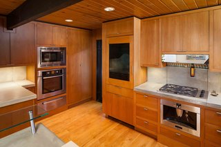 Expanded Kitchen with built in appliances. Spice rack is by Desu Design.