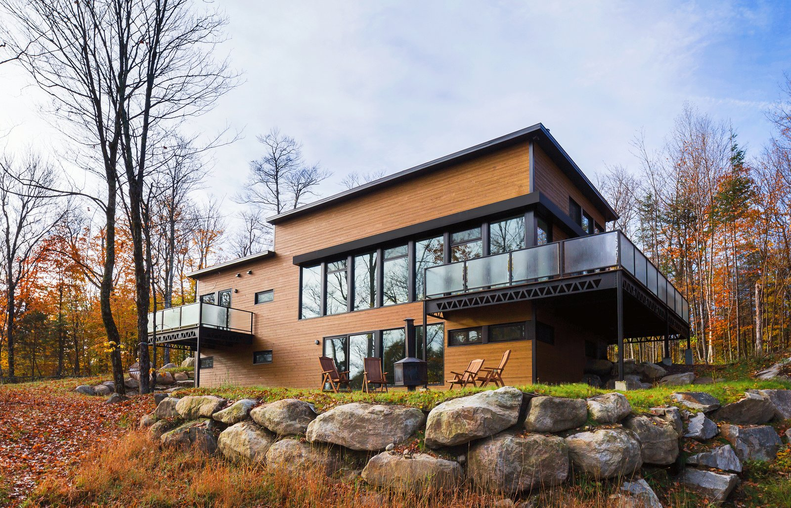 The Laurentians Residence by BONE Structure