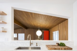 70s Kitchen & Living Room Goes Modern Geometric
