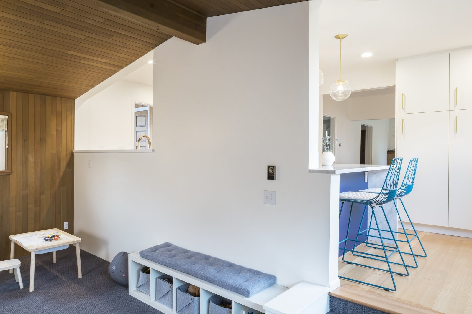 70s Kitchen U0026 Living Room Goes Modern Geometric