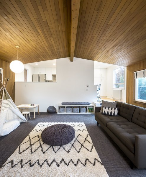 Photo 2 Of 13 In 70s Kitchen Living Room Goes Modern Geometric