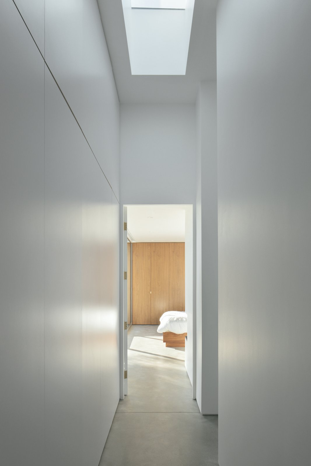 Hallway and Concrete Floor  Best Photos from Minimalist Urban Residence
