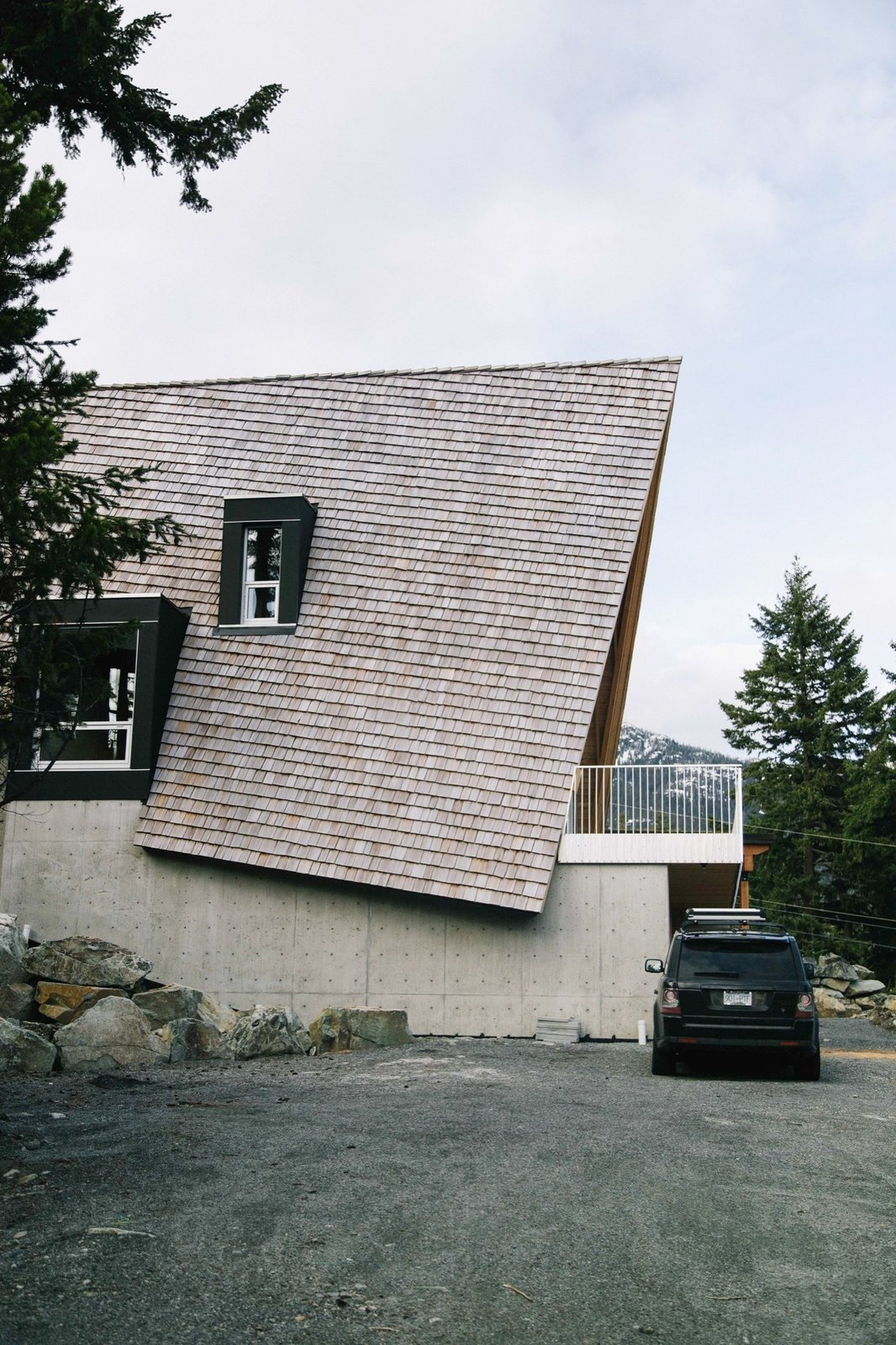 Outdoor, Boulders, and Small Patio, Porch, Deck  Cabins & Hideouts from A Whistler A-Frame