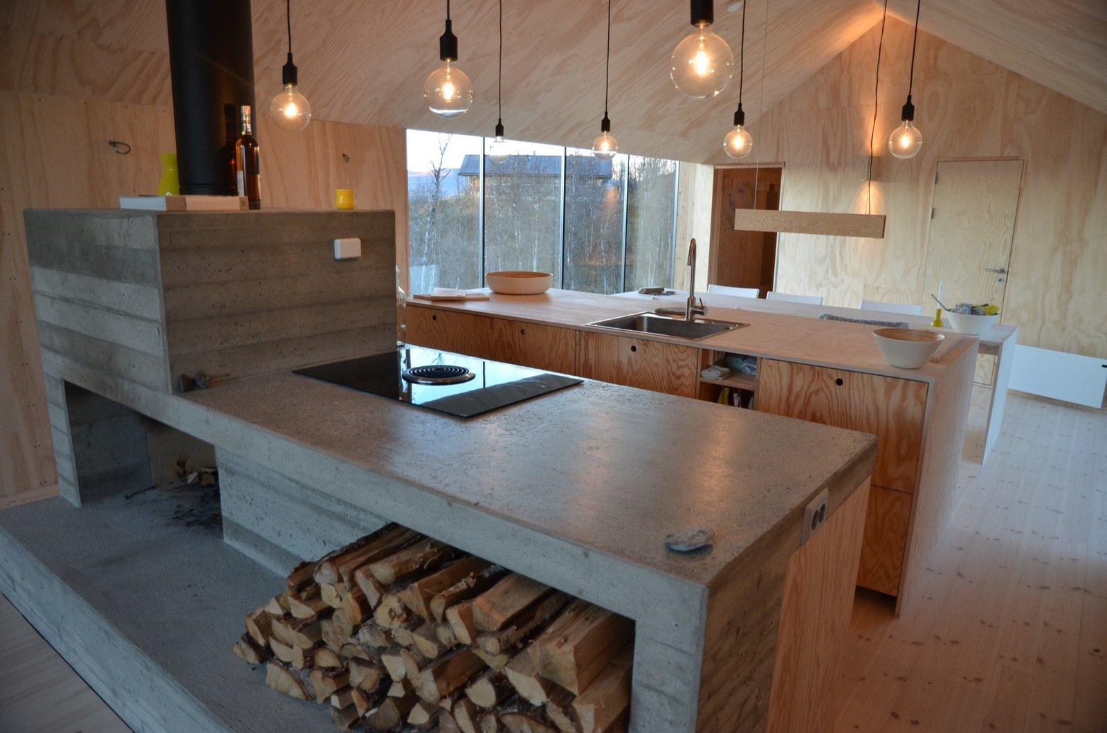 Kitchen and Concrete Counter  Kitchen