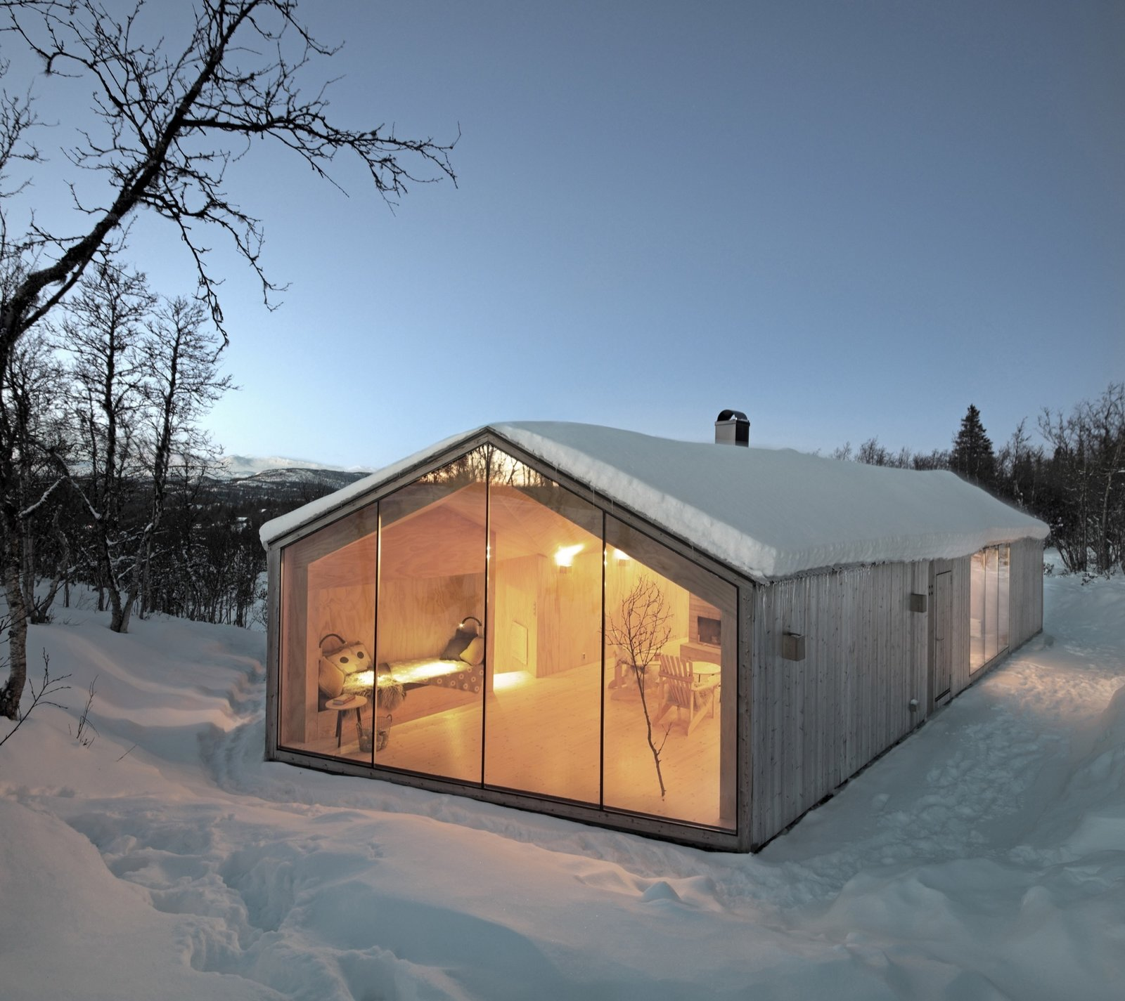Exterior, Gable RoofLine, and House Building Type  Best Photos from Landscape, the Architect