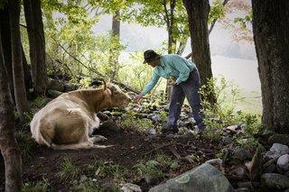 Sam von Trapp at work on the family farm.