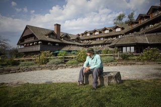 Sam von Trapp at the family's resort in Vermont.