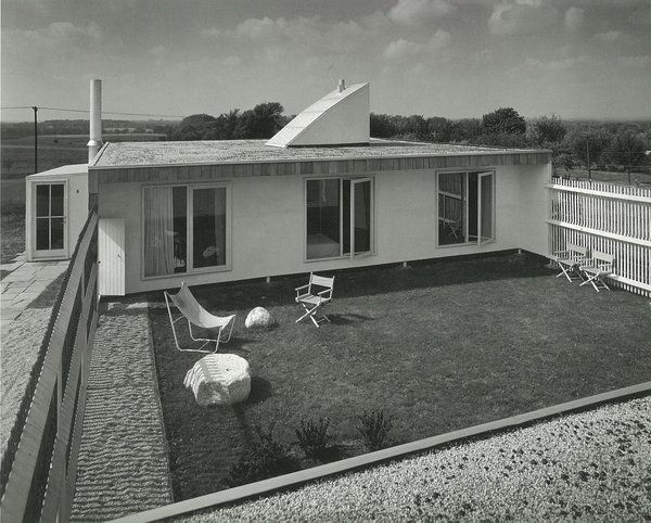 The little back garden of the Weese's Water Tower house was private and peaceful for a family who spent most of the year in a Chicago apartment  Photo 6 of 21 in How American Modernism Came to the Mountains