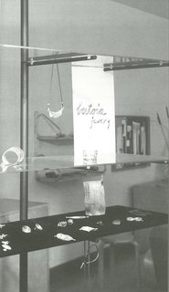 Making do: Harry Weese designed open shelving of floating glass and steel poles to display Bertoia jewelry in the early 1950s