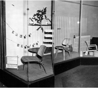 "Window display at the Baldwin Kingrey store in Chicago — ""Eames Design"""