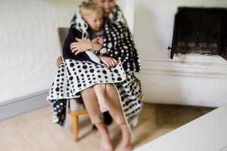 Lapuan Kankurit TAIVAANVALKEAT wool blanket