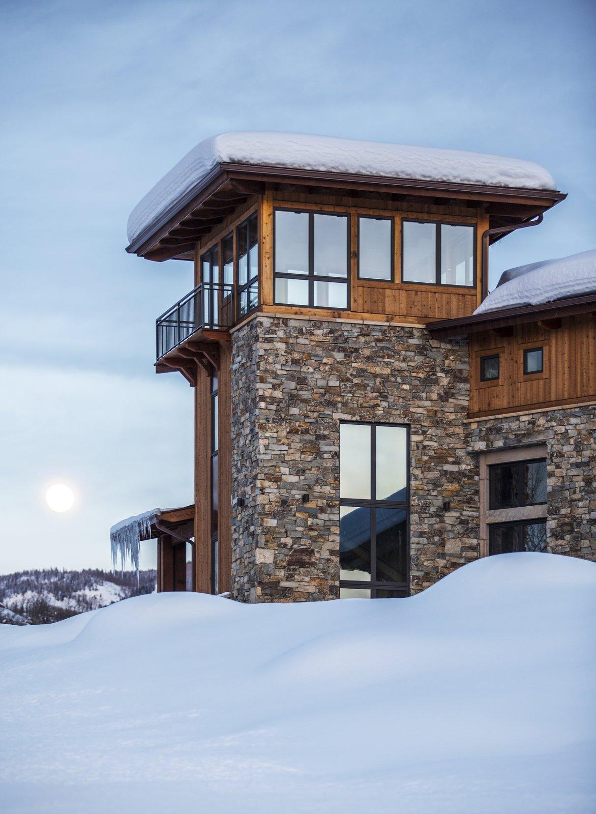 Windows, Wood, Picture Window Type, and Casement Window Type  La Torretta
