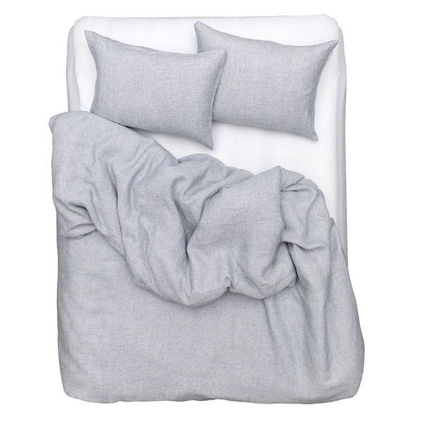 Blue Check Linen Duvet Covers, Pillows and Fitted Sheets