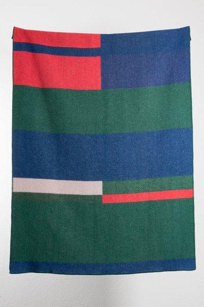 """""""Bauhaused 1"""" Wool Blanket"""