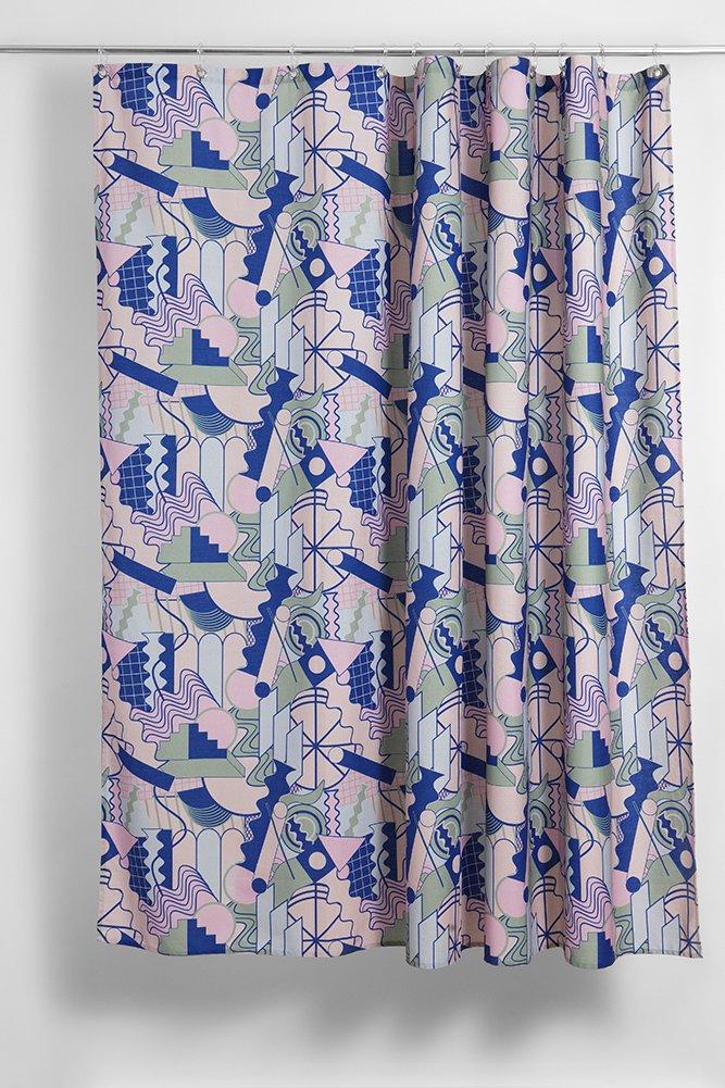 PoMo Artist Cotton Shower Curtain Waterproof By Sophie Probst