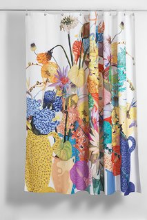 """""""Blossom"""" Artist Cotton Shower Curtain ( Waterproof ) by Sophie Probst"""