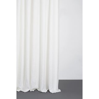 Two-Tone Stonewashed Linen Curtains - col. White