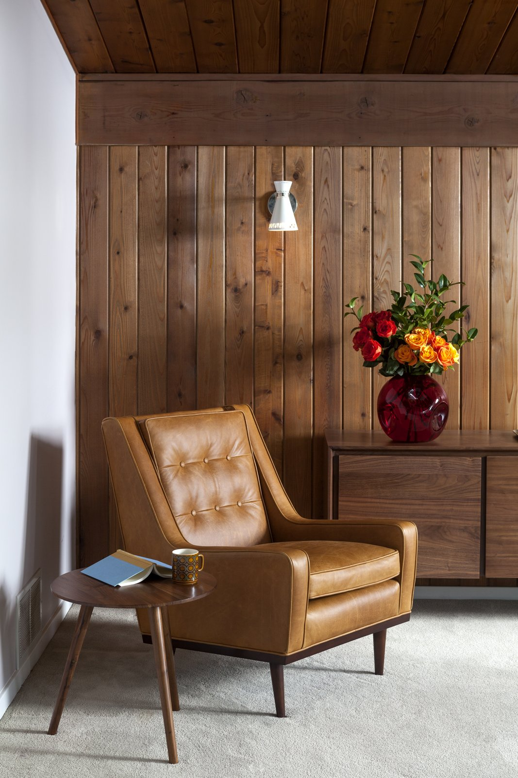 Mid-century lounging made easy.  Photo 6 of 7 in Styling a Rescued Mid-Century Gem