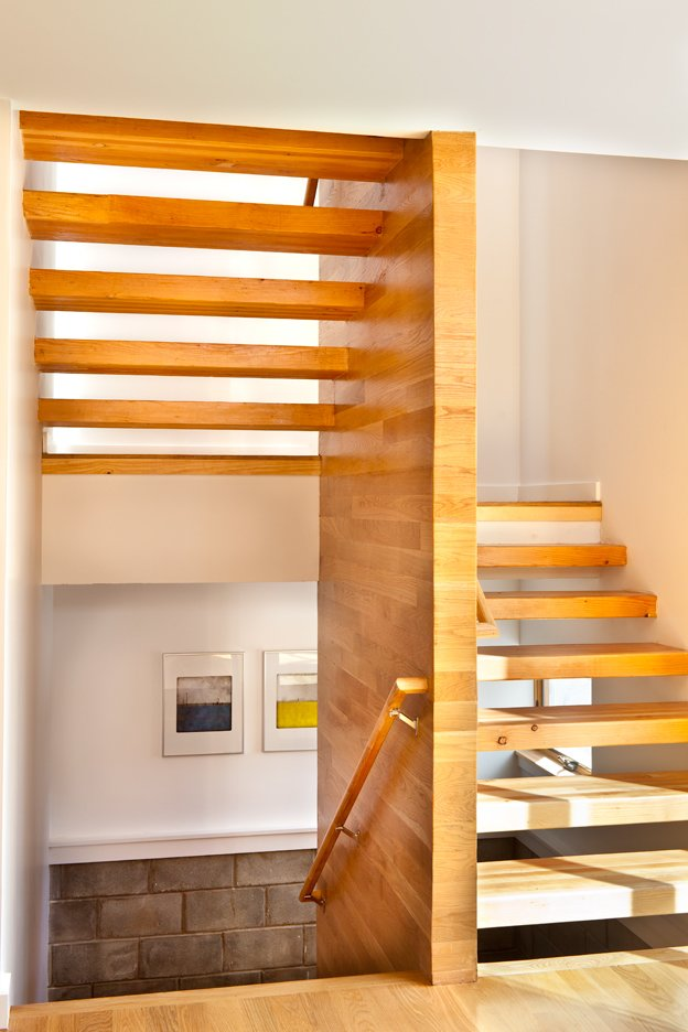 Staircase, Wood Tread, and Wood Railing  Oak Row House by Jeff Jordan Architects
