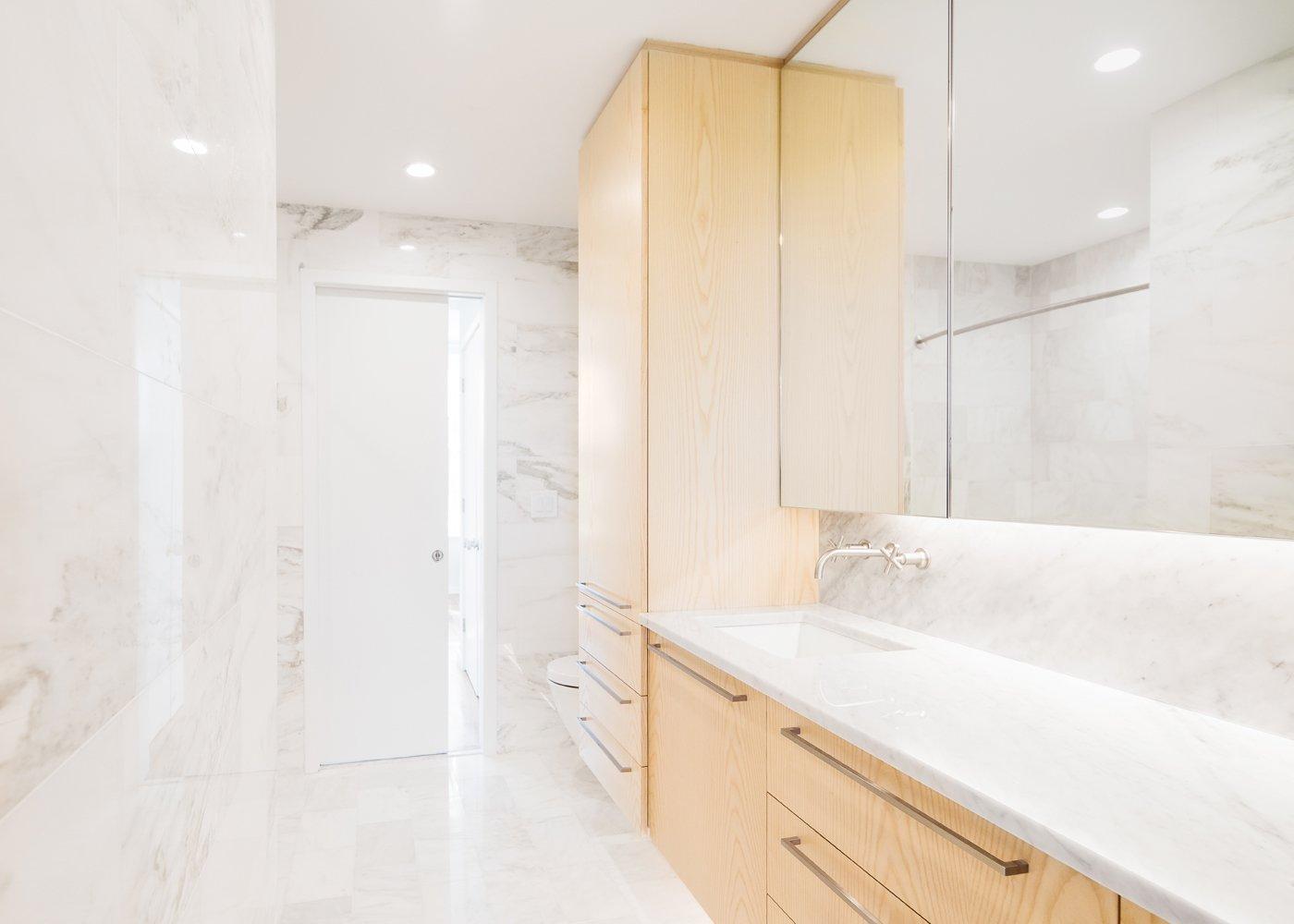 Bath Room and Marble Counter  Wayne Street Row House by Jeff Jordan Architects